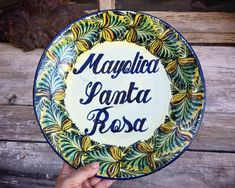 "Vintage 12"" Mexican Pottery Decorative Plate with Santa Rosa Guanajuato Mexico Plates Wall Art How To Better Yourself, Improve Yourself, 90 Day Plan, Pottery Supplies, Hacienda Style, Mind Tricks, Plates On Wall, Decorative Plates, Etsy Seller"