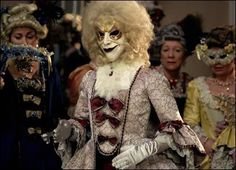 another view of the evil venetian masquerade robots.