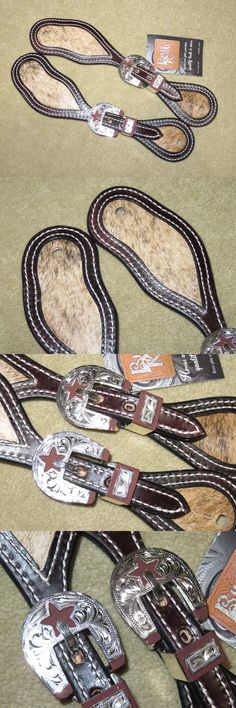 Spur Straps 183384: Nwt~Dark Oil Billy Royal #20464 Western Spur Straps~Cowhide And Silver Buckle Sets -> BUY IT NOW ONLY: $45 on eBay!