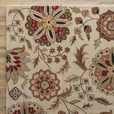 You'll love the Jasmine Parchment & Red Rug at Wayfair - Great Deals on all Décor  products with Free Shipping on most stuff, even the big stuff.