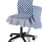 How to Make Task Chair Slip Covers - via @Craftsy