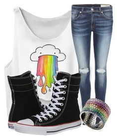 """""""Why Not?"""" by bubbythenarwhal ❤ liked on Polyvore featuring rag & bone, Converse and AS29"""