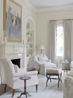 Home Interior Warm Love the large painting being the focal point of a white room with washes of grey and many textures.Home Interior Warm Love the large painting being the focal point of a white room with washes of grey and many textures. Living Room White, Beautiful Living Rooms, White Rooms, Formal Living Rooms, Home Living Room, Living Room Designs, Living Room Decor, Modern Living, Cozy Living