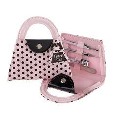 Kate Aspen 'Pink Polka Purse' Manicure, Set of 6