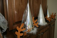 Frozen Party Icicle hats and Sven antlers