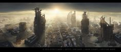 JLewis - Opener Picture  (2d, sci-fi, future, city, painting, cyberpunk, post apocalyptic, ruins)