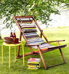 Uusi päällinen kansituoliin kansituoli räsymatto | Avotakka Furniture Makeover, Diy Furniture, Outdoor Furniture, Outdoor Chairs, Outdoor Decor, Eclectic Design, Reuse Recycle, Bohemian Decor, Outdoor Living