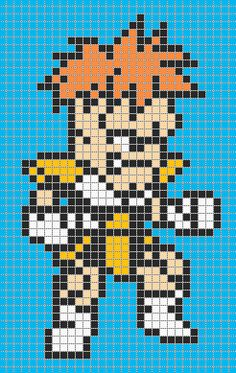 Recoome - Dragon Ball perler bead pattern
