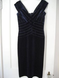 TADASHI COLLECTION Blue Velvet BodyCon Dress, Size XS #TadashiCollection #Bodycon