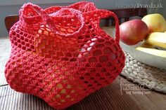 síťovka 2 Straw Bag, Lunch Box, Tote Bag, Knitting, Pattern, Women, Crocheting, Crochet Bags, Zero Waste