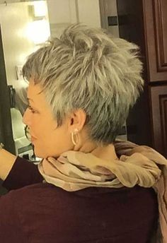 Pixie Grey Hairstyles 2017