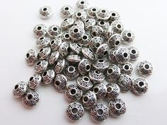 This listing is for these lovely Tibetan silver saucer spacer beads in an antique silver colour. They measure approximately 6.5mm x 3mm, with