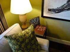 Gold wall color paired with animal prints and upcycled furnishings tell an eco-friendly story in the HGTV Green Home 2009 sitting room. Small Living Rooms, Home Living Room, Living Room Decor, Living Room Lighting Design, Home On The Range, Gold Walls, Sweet Home, Interior Design, Color