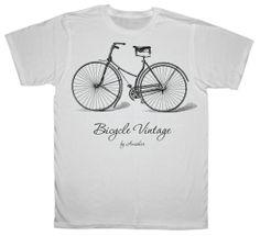 bicycle tshirt / ECO PRINT TSHIRT/  tshirt / by ANISHARsport, $16.55