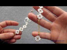 Beaded Bracelets Tutorial, Seed Bead Bracelets, Bead Earrings, Handmade Bracelets, Handmade Jewelry, Vintage Jewelry, Tatting Jewelry, Bead Jewellery, Beading Jewelry