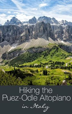 Hiking the Puez Odle Altopiano in the Dolomites of Italy. This hike is gorgeous!! Hiking and how-to's included in this post.