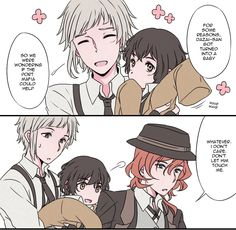 Taking care of baby Dazai 1/5