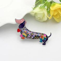 """""""Lovely Dachshund"""" pin 2 Gifts For Your Mom, Great Gifts, Hard Enamel Pin, Matching Necklaces, Animal Design, Dog Gifts, Mother Day Gifts, Dog Mom, Cute Cartoon"""