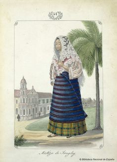 ÁLBUM. Lozano, José Honorato 1821- — Dibujo — 1847 Philippines Outfit, Philippines Fashion, Philippines Culture, Arte Filipino, Filipino Culture, Manila, Filipino Fashion, Baybayin, Dress Design Drawing