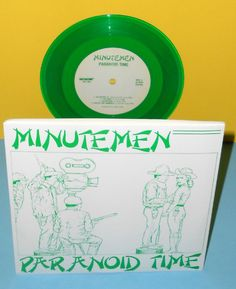 "MINUTEMEN paranoid time ep 7"" Record GREEN Vinyl limited SST mike watt firehose #punk"
