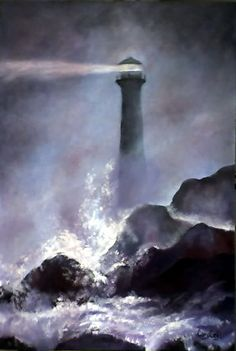 THE LIGHTHOUSE THE PAINTED THINKING THAT BEYOND ALL DARKNESS AND PAIN THAT GIVES LIFE, ALWAYS THERE IS A LIGHT THAT DOES NOT IS LOOKS BUT THIS.