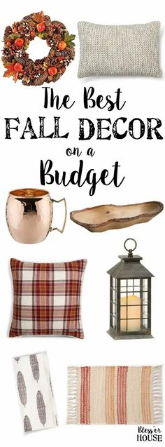The Best Fall Decor on a Budget | blesserhouse.com - A shopping guide for all of the best deals on fall home decor in 2016 plus how to get cash back and resources to free/cheap fall decorating ideas.