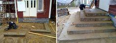 Vanha rakennus saa tyyliin sopivat portaat yli 100 vuotta vanhoista kirkon porraskivistä. Asennus: Viinijärven Kivi Oy