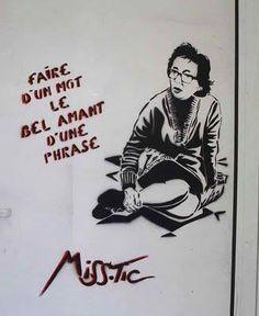 Marguerite Duras (French Author) by Miss'Tic   Rue Saint-Benoit, Paris