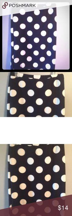 Womens Moa pencil skirt navy white polka dot xl New women's gorgeous pencil skirt, navy white polka dot , xl MOA USA Skirts Pencil