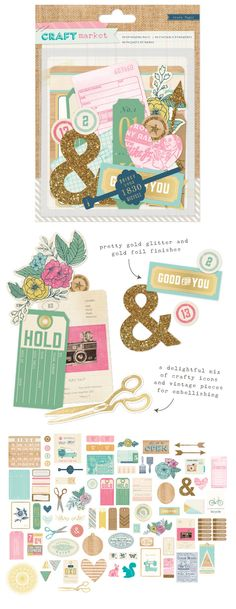Crate paper - Craft Market - Ephemera pack