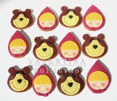 Masha and the Bear cookies Bear Cookies, Iced Cookies, Cute Cookies, Bear Birthday, Birthday Cookies, 2nd Birthday Parties, Masha Et Mishka, Masha Cake, Marsha And The Bear