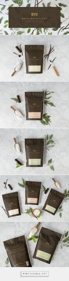 Recover Regimen Beauty Packaging by Matt Erickson | Fivestar Branding Agency – Design and Branding Agency & Curated Inspiration Gallery