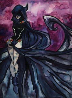 Raven Watercolours by YoungTitan213 on deviantART
