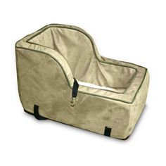 Snoozer+Luxury+High-Back+Console+in+Camel+-+Large,+For+Dogs+Up+To+12+lbs.+Designed+for+SUV+consoles+is+perfect+for+up-fro…