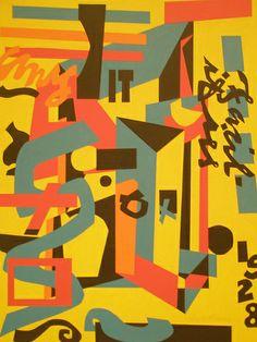 Stuart Davis 'Something on the Eight Ball' 1954, Museum of Art, Philadelphia, Pennsylvania