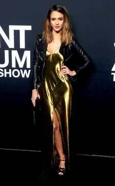 Jessica Alba from The Best of the Red Carpet  Jessica keeps it sleek and sexy in Saint Laurent at the Los Angeles fall 2016 show.