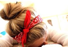 Imagen de hair, girl, and bandana