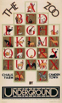 "1928 ""Zoo Alphabet"" London Underground Poster | by kitchener.lord"