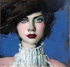 Malcolm Liepke-'Black Hat'-Telluride Gallery of Fine Art