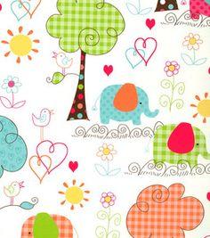 Nursery Fabric Pattern Elephant Scenic Joann