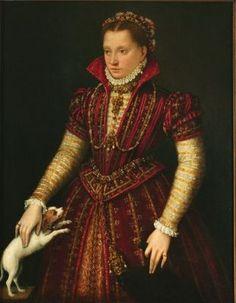 Lavinia Fontana (Italian, 1552-1614) Portrait of a Noblewoman, ca. 1580. Oil on canvas