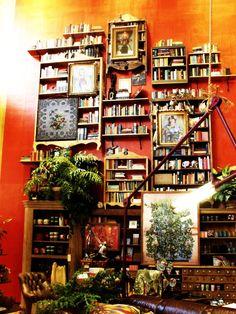 Books everywhere.