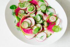 Quick Pickled Cucumber Radish Herb Salad