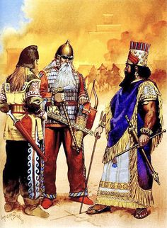 """Nabopolassar, king of Babylon, and the king of Scythia at the fall of Nineveh, 612 BC"", Angus McBride"