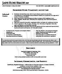 new registered nurse resume sample sample resume for nurses newly