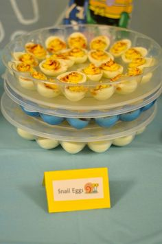 Snail eggs-deviled eggs