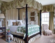 ** Traditional Bedroom by Alex Papachristidis in Bridgehampton, New York