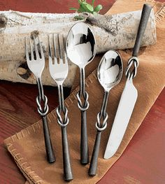 hmmmm I think I might have found our new flatware - Western Iron Knot Flatware Set - 5 pcs