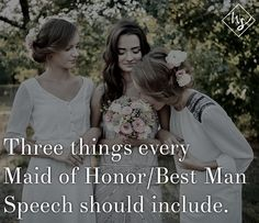 Wedding speeches are so hard to write! If youre a best man or a maid of honor this year, you need this article.