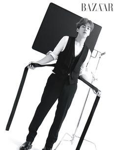 """exo's xiumin for harper's bazaar magazine, april Baekhyun Chanyeol, Shinee, Chen, Closer, Kai, Rapper, Luhan And Kris, Solo Photo, Kim Min Seok"